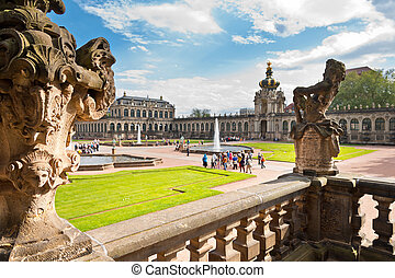 Zwinger in Dresden, Germany - detail of staircase in...