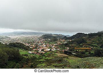 zwischen, siedlungen, teneriffa, spanischer , klein, berg,...