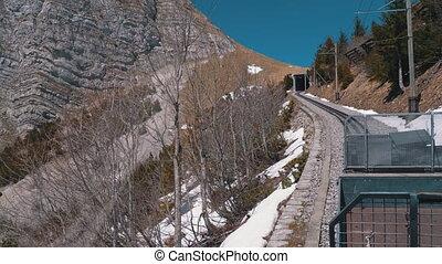 zwitserland, ritten, bergen, trein, alpen, railway.,...