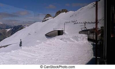 zwitserland, uphill., alpen, geleider, bergen, bergen.,...