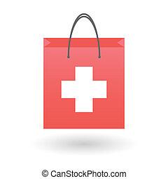 zwitsers, zak, vlag, shoppen