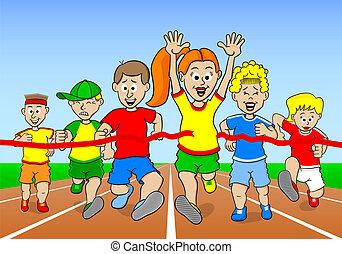 zwycięzca, biegacze