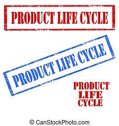 zyklus, produkt, leben
