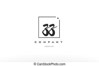 Z Square Frame Letter Logo Design With Black And White Colors Z