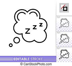 zzz, απλό , μικροβιοφορέας , κοιμάμαι , αδυνατίζω αμυντική γραμμή , αφρίζω , εικόνα