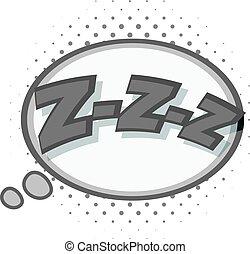 Zzz, speech bubble icon monochrome